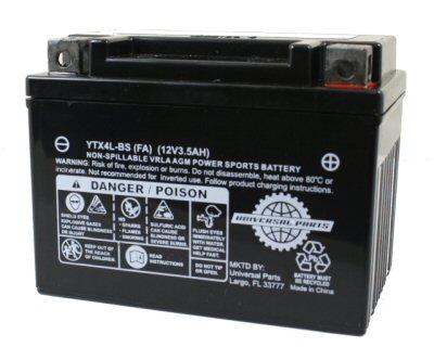 12V 3AH Battery YTX4L-BS - Factory Activated
