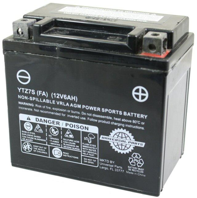Universal Parts 12 Volt 6 Amp YTZ7S Battery