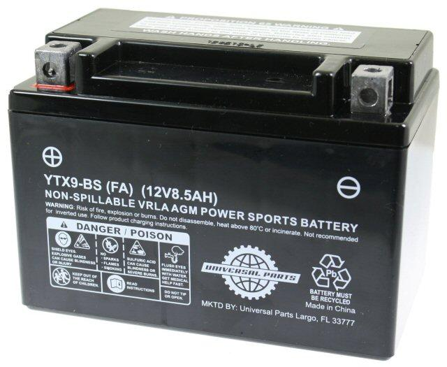 Universal Parts 12 Volt 8.5 Amp YTX9-BS Battery