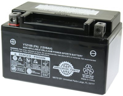 Universal Parts 12V 8AH Battery YTZ10S - Factory Activated