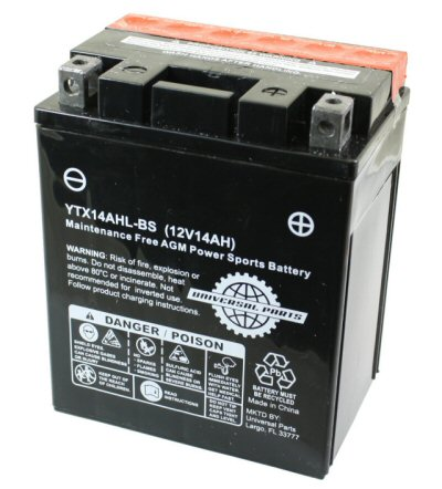 Universal Parts 12 Volt 14 Amp YTX14AHL-BS High Performance Battery