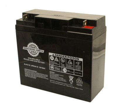 Universal Parts 12V 18AH Compact Scooter Battery