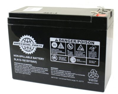 Universal Parts 12V 10AH Compact Scooter Battery