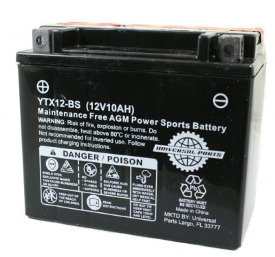 Universal Parts 12 Volt 10 Amp YTX12-BS Battery