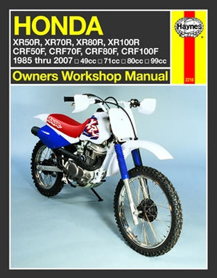 haynes repair manual honda xr crf 4 stroke engines and. Black Bedroom Furniture Sets. Home Design Ideas