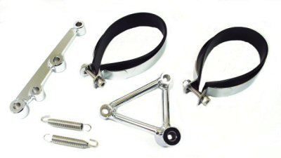 Bracket Set & Hardware for Oval HP Exhausts
