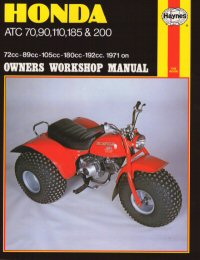 Honda ATC70, 90, 110, 185 & 200 Haynes Repair Manual