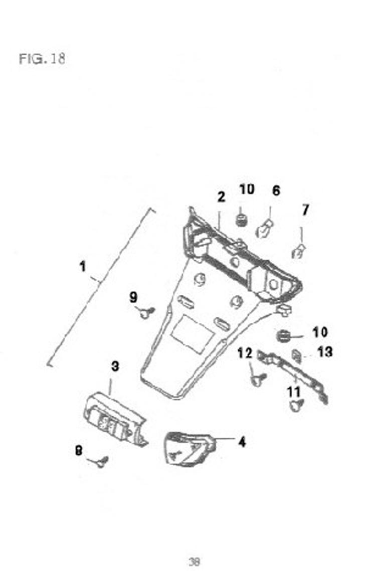 Rear tail lamp and parts: Rear lights, bulbs, lens, rear