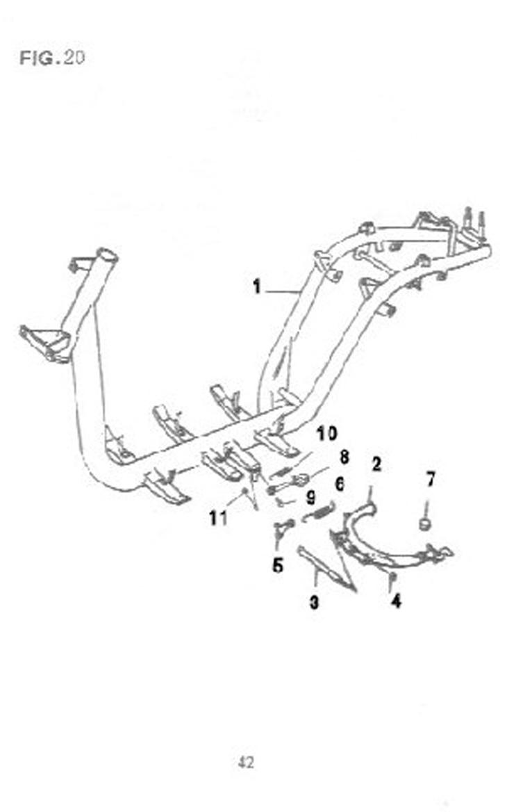50cc 2-stroke Qingqi B2 frame parts: Geely B X 1 series
