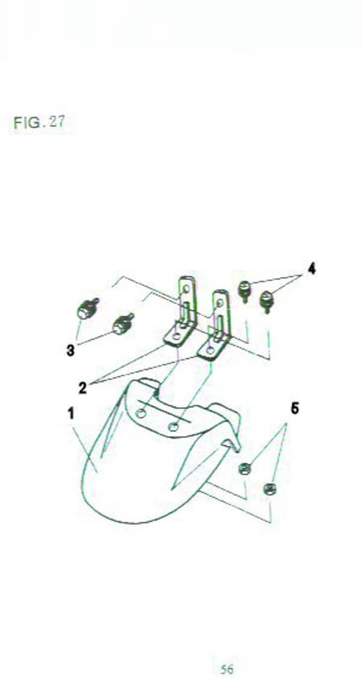 Qingqi B2 front fender: Fender parts for Qingqi 50cc B