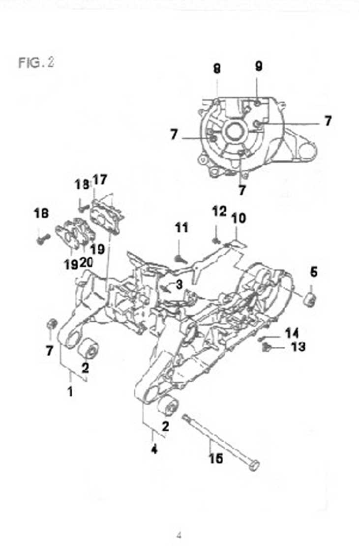 Two Stroke Engine Parts Diagram Wiring Library 49cc 2 Scooter Diagrams Crankcase