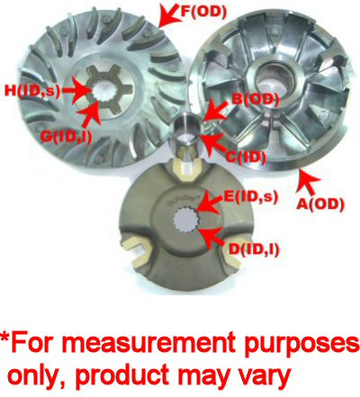 b1ef087aa Dr. Pulley Variator Assembly - Drive   Transmission - 50cc 4-stroke ...