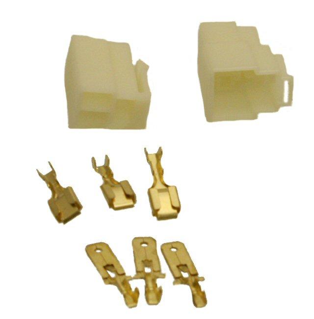 3 Pin Connector Kit - 6.3mm Pin