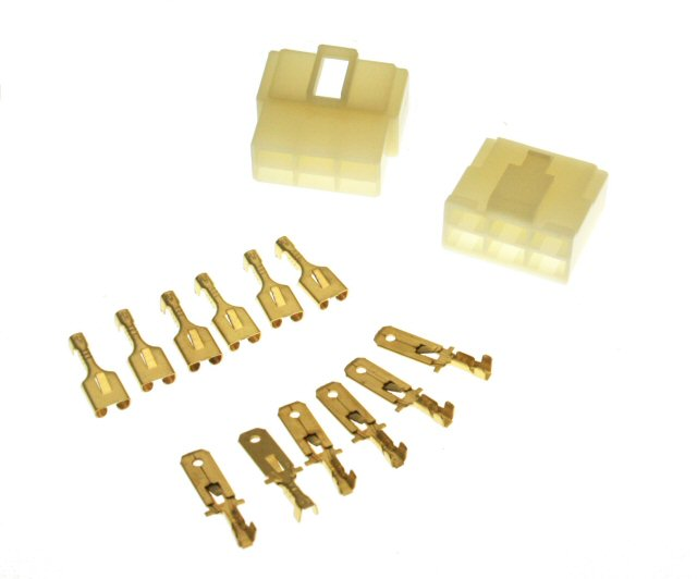 6 Pin Connector Kit - 6.3mm Pin