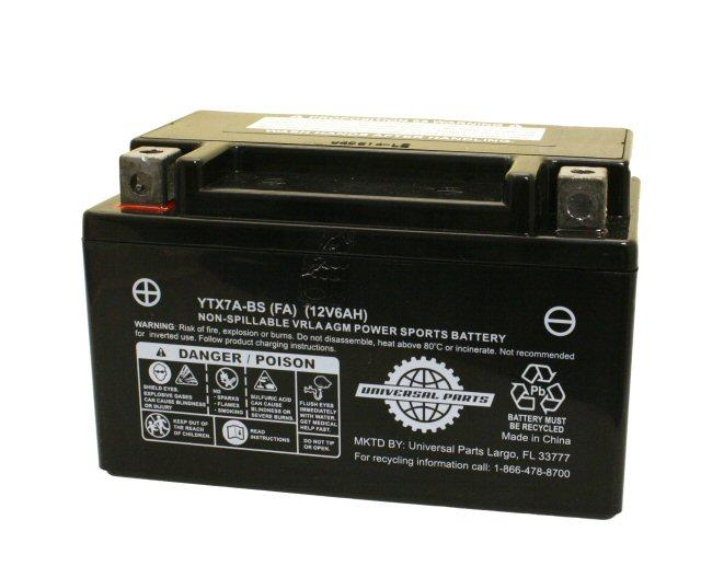 12V 6AH Battery YTX7A-BS - Factory Activated