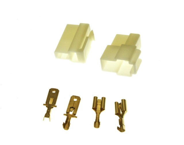 2 Pin Connector Kit - 6.3mm Pin