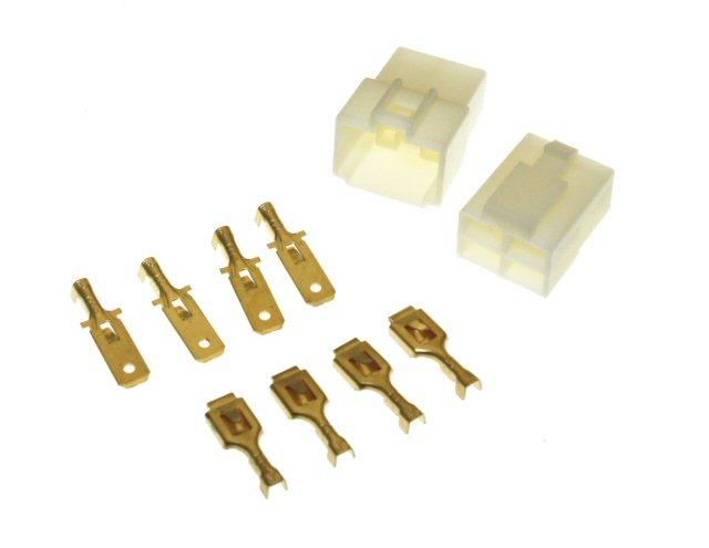 4 Pin Connector Kit - 6.3mm Pin