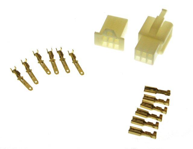 6 Pin Connector Kit - 2.8mm Pin