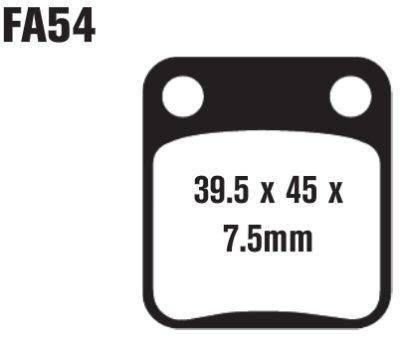 EBC Brakes SFA54 Scooter Brake Pads (125-2)