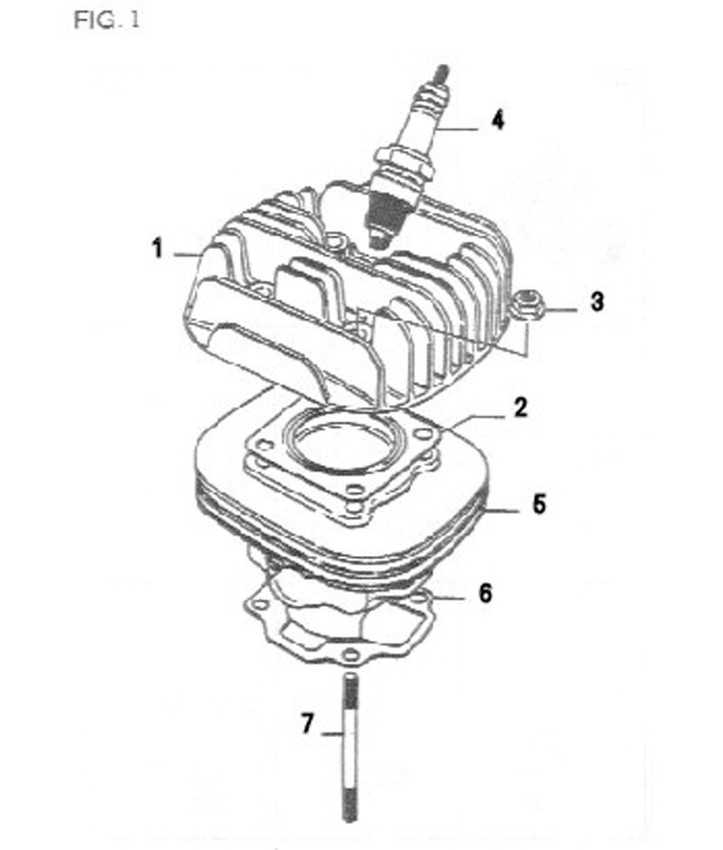 Engine Diagrams > 50cc D1E41QMB 2-stroke Scooter Parts