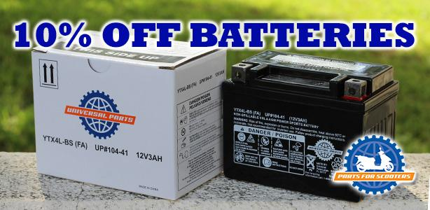 Take 10% Off Your Battery Order!