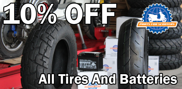Take 10% Off Your Order of Batteries and Tires for the month of February!