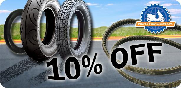 Take 10% Off Tires, Tubes and Belts!