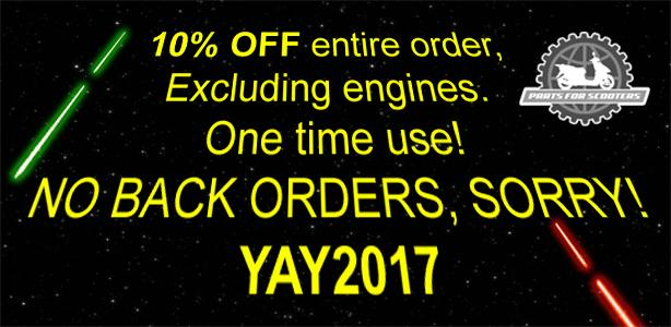 Take 10% Off Your Entire Order for the New Year!